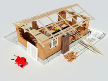 Model of a house Stock Photo
