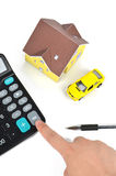 Model house and toy car Stock Photography