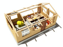 Model house. On white background Royalty Free Stock Images
