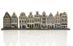 Model houses in old Amsterdam Holland Royalty Free Stock Image