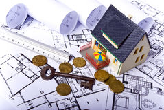 Model huis Royalty-vrije Stock Foto
