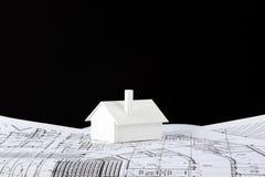 Model huis op af:drukken Royalty-vrije Stock Fotografie