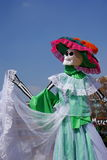 Model I. Decorated skeleton as part of the celebration of the day of the dead in mexico city Royalty Free Stock Photos
