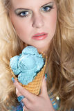Model with icecream Royalty Free Stock Photos