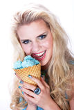 Model with icecream Royalty Free Stock Photo
