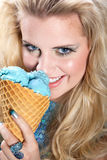Model with icecream Royalty Free Stock Image