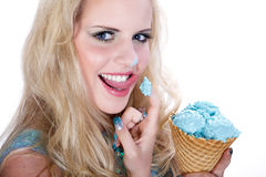Model with icecream Stock Photos