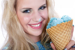 Model with icecream Stock Photography