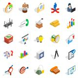 Model icons set, isometric style. Model icons set. Isometric set of 25 model vector icons for web isolated on white background Royalty Free Stock Images
