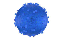 Model of influenza virus Stock Image