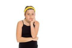 Model isolated depressed boredom Stock Photography