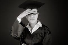 Model isolated on plain background ashamed hiding Stock Photos