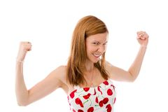 Model isolated on plain background screaming Stock Photos