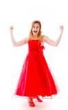 Model isolated on plain background screaming Royalty Free Stock Photos