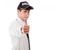 Model isolated positive attitude thumbs up Stock Photography