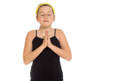 Model isolated praying Royalty Free Stock Photography