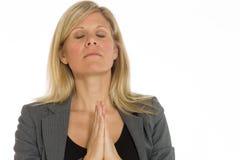 Model isolated praying Royalty Free Stock Image