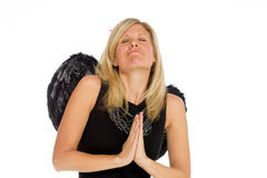Model isolated praying Royalty Free Stock Photo