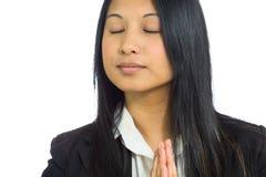 Model isolated praying Stock Image