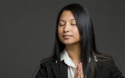 Model isolated praying Stock Photos