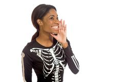 Model isolated talking shouting voice Stock Photo