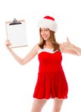 Model isolated on white ready for christmas Stock Image