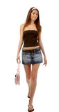 Model in jeans skirt Royalty Free Stock Photo