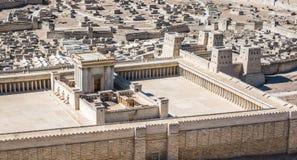 Model Jerozolimska świątynia od Pierwszy wieka C e zdjęcie royalty free