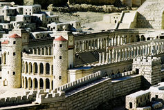 Model of Jerusalem city. Detail royalty free stock image