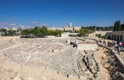 The Model of Jerusalem in the Second Temple Period. JERUSALEM, ISRAEL - OCTOBER 13, 2017: The Model of Jerusalem in the Second Temple Period royalty free stock photography