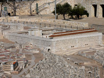 Model of Jerusalem at the time of Jesus Royalty Free Stock Images