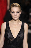 Model Jessica Stam walk the runway at the Diane Von Furstenberg fashion show during MBFW Fall 2015 Stock Photo