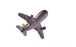 Model jet airplane from below Stock Image