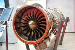 Model of jet engine at Singapore Airshow Stock Image