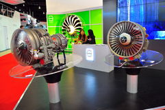Model of jet engine at Singapore Airshow Royalty Free Stock Photos