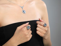 Model and jewelery Royalty Free Stock Photo