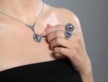 Model and jewelery Stock Image