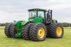 Model 9510 John Deere Tractor. A model 9510 John Deere farm tractor with dual wheels on each axle Royalty Free Stock Image