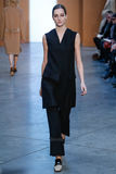 Model Josephine Le Tutour walk the runway at the Derek Lam Fashion Show during MBFW Fall 2015 Stock Photography