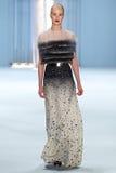 Model Julia Frauche walks the runway wearing Carolina Herrera Fall 2015 Collection Royalty Free Stock Photography
