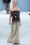 Model Julia Frauche walks the runway wearing Carolina Herrera Fall 2015 Collection Stock Image