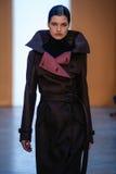 Model Julia van Os walk the runway at the Derek Lam Fashion Show during MBFW Fall 2015 Stock Image