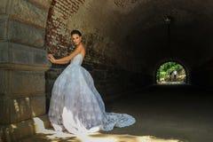 Model Kalyn Hemphill poses under the bridge Stock Photo