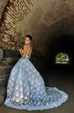 Model Kalyn Hemphill poses under the bridge Royalty Free Stock Photos