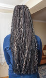 Model with kanekalon hair Stock Photo