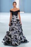 Model Karlie Kloss walks the runway wearing Carolina Herrera Fall 2015 Collection Stock Image