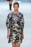 Model Karlie Kloss walks the runway wearing Carolina Herrera Fall 2015 Collection Stock Photography