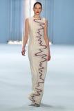 Model Kate Bogucharskaia walks the runway wearing Carolina Herrera Fall 2015 Collection Royalty Free Stock Photography