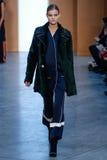 Model Kate Grigorieva walk the runway at the Derek Lam Fashion Show during MBFW Fall 2015 Stock Photos