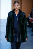 Model Kate Grigorieva walk the runway at the Derek Lam Fashion Show during MBFW Fall 2015 Stock Photography